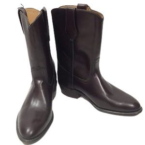 FRYE Leather Pull On Cowboy Boots